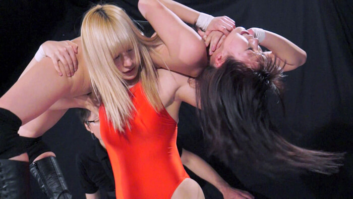 女子プロレスのバトル・フェチ動画!絞めて投げられM女があえぐ_画像2